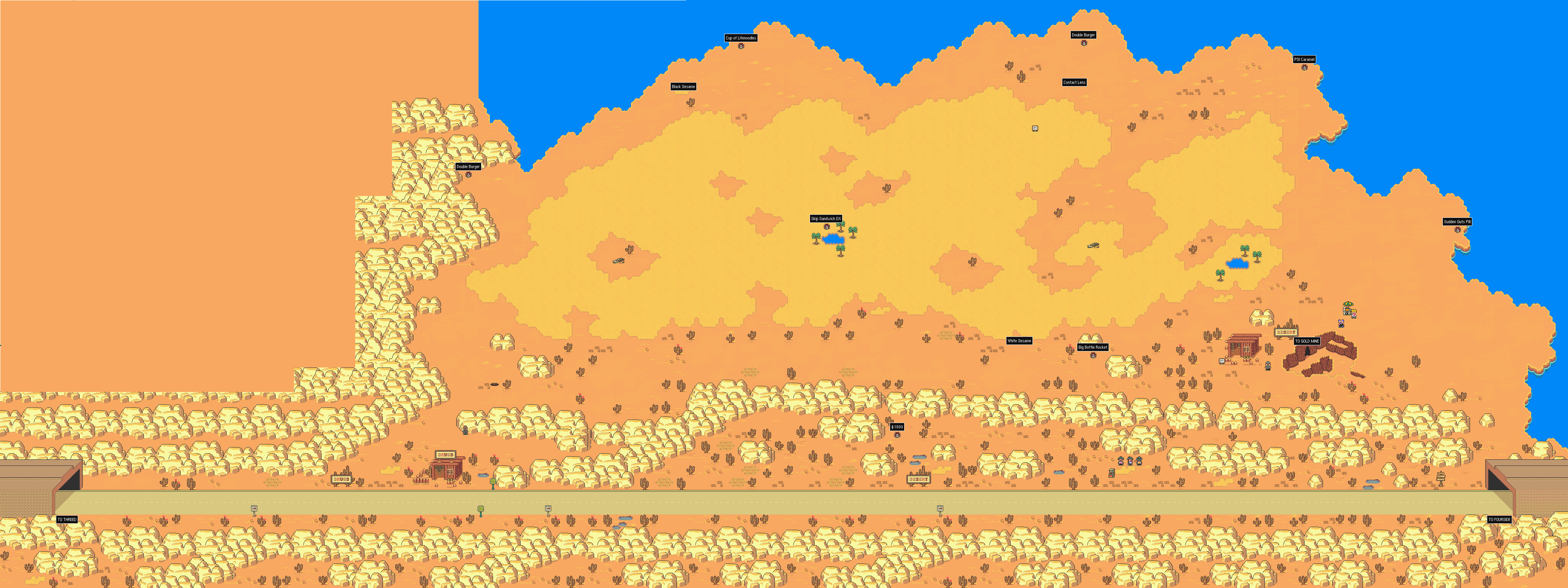 StarmenNet EarthBound Walkthrough Dusty Dunes Desert